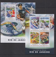DJ020 2016 DJIBOUTI SPORT OLYMPIC GAMES RIO DE JANEIRO KB+BL MNH - Verano 2016: Rio De Janeiro