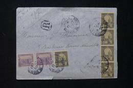 TUNISIE - Devant D'enveloppe En Recommandé De Tunis Pour Paris En 1907 - L 83794 - Covers & Documents