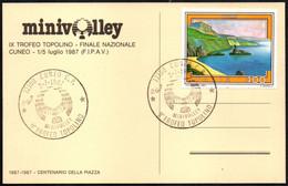 VOLLEYBALL - ITALIA CUNEO 1987 - 9° TROFEO TOPOLINO MINIVOLLEY - CARTOLINA UFFICIALE - Voleibol
