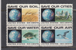 USA 1970 - Nature Protection, Set Of 4 Stamps, MNH** - Ungebraucht