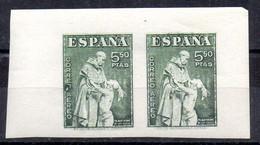 España 2 Sellos Nº Edifil 1004 ** SIN DENTAR - Usados