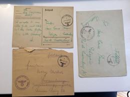 Luxembourg Lot Feldpost (5 Lettres Avec Contenu) - 1940-1944 German Occupation