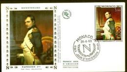 FDC Monaco BICENTENAIRE De La Naissance De  NAPOLEON 1er 1969 - Napoleon
