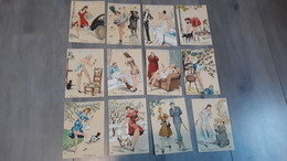 """Lot De 12 Illustrations Signées Jean Paris Serie Erotique """"les Gros Mots"""" Chez Barré Et Dayes - Otros Ilustradores"""