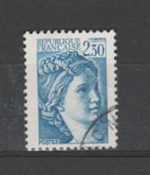 FRANCE / 1981 / Y&T N° 2156 : Sabine 2F30 Bleu - Choisi - Cachet Rond - Gebraucht