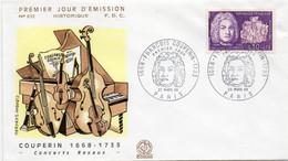 4 Premier Jour N° 1550 à 1553 Personnages Célèbres 23/03/1968 Et 06/07/1968 Edition Coq - 1960-1969
