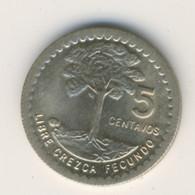 GUATEMALA 1970: 5 Centavos, KM 270 - Guatemala