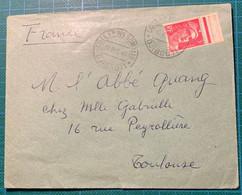 N°716 (Gandon 3F Rose) Cad DJIBOUTI 1946 - Brieven En Documenten