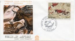 Premier Jour N° 1555 La Grotte De Lascaux 13/04/1968 Montignac édition Coq - 1960-1969