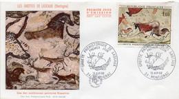 Premier Jour N° 1555 La Grotte De Lascaux 13/04/1968 Montignac édition Farcigny - 1960-1969
