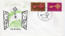 Premier Jour N° 1556 Et 1557 Europa 27/04/1968 Paris édition Coq - 1960-1969