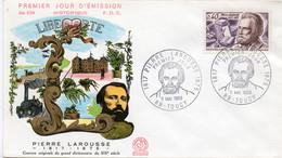 Premier Jour N° 1560 Pierre Larousse 11/05/1968 Toucy édition Coq - 1960-1969