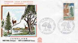 Premier Jour N° 1561 Forêt Jumelage Rambouillet Forêt Noire 18/05/1968 Rambouillet édition Coq - 1960-1969