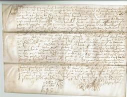 1577 - Très Beau Parchemin Sur Peau - Plié Pour Archives - 26 X 19 Cm   (Epoque Henri III) - Manoscritti