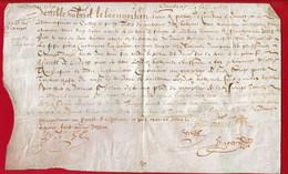 1610 - Parchemin Manuscrit Sur Peau - 27 X 17 Cm  (Epoque Henri IV) - Manoscritti