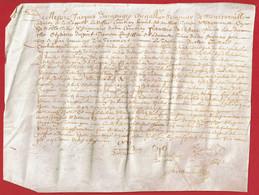 1656 - Parchemin Manuscrit Sur Peau - 26 X 20 Cm (Epoque Louis XIV) - Manoscritti