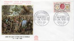 Premier Jour N° 1563 Rattachement De La Flandre 29/06/1968 Paris édition Coq - 1960-1969