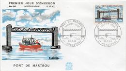 Premier Jour N° 1564 Pont De Martrou 20/07/1968 Rochefort édition Coq - 1960-1969