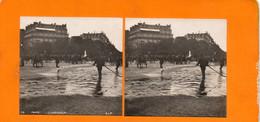 PHOTO STÉRÉOSCOPIQUE -Paris, Métiers L'arroseur,année 1920  Collection ANIMATION  N° 75 S.I.P - Stereoscopio