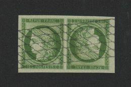Reproduction N° 2 15 C Cérès Tête-bêche Oblitération Grille Sans Fin - 1849-1850 Ceres