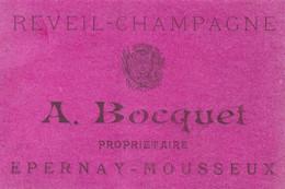"""""""REVEIL CHAMPAGNE"""", Epernay Mousseux, A.Bocquet, Propriétaire - Champagne"""