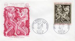 Premier Jour N° 1569 Antoine Bourdelle La Danse 26/10/1968 Paris édition Coq - 1960-1969