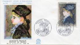Premier Jour N° 1570 Auguste Renoir 09/11/1968 Paris édition Coq - 1960-1969