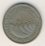 NICARAGUA 1972: 25 Centavos, KM 18 - Nicaragua