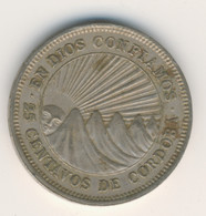 NICARAGUA 1965: 25 Centavos, KM 18 - Nicaragua