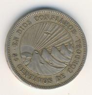NICARAGUA 1956: 25 Centavos, KM 18 - Nicaragua