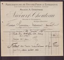"""Facture """" Nicourt-Chouteau """" Manufacture De Couvre-pieds & édredons Du 29 Janvier 1925 à Orléans - 1900 – 1949"""