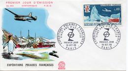 Premier Jour N° 1574 Expéditions Polaires 19/10/1968 Paris édition Coq - 1960-1969