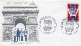 Premier Jour N° 1576 Anniversaire De L'Armistice 09/11/1968 Paris édition Coq - 1960-1969