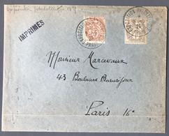 France N°107 Et 110 Sur Enveloppe TAD EXPOSITION PHILATELIQUE PARIS 9.5.1925 - (C1773) - 1921-1960: Periodo Moderno