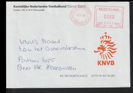 Netherlands Cover W/Meter 1999 Nieuwstadt Koninklijke Nederlandse Voetbalbond District Zuid II (EB1-64) - Covers & Documents