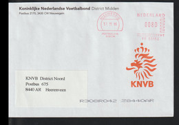 Netherlands Cover W/Meter 1999 Nieuwegen Koninklijke Nederlandse Voetbalbond District Midden (EB1-64) - Covers & Documents