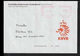 Netherlands Cover W/Meter 1999 Heerenveen Koninklijke Nederlandse Voetbalbond (EB1-64) - Covers & Documents