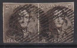 Belgique N°1 Paire épaulettes P 82 MENIN  Margé, Pour Marges, Variétés Et Nuances Voir Scan; - 1849 Schulterklappen