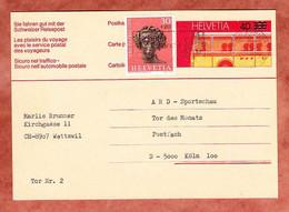 P 234 Omnibus + ZF Bacchus, MS Verhuete Waldbraende Zuerich, Nach Koeln 1976 (2695) - Enteros Postales