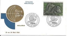 Enveloppe Philatélique Loisirs 66 Foire De Paris 18.05.1966  N° 1478 - 1960-1969