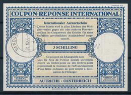 AUSTRIA / ÖSTERREICH  -  VANDANS ,  1955 ,  Type Lo16   -  3 SCHILLING    -   Reply Coupon Reponse    -  433 - Enteros Postales