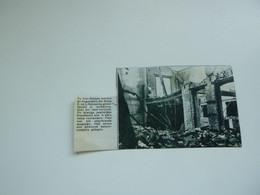 """Origineel Knipsel ( A 225 ) Uit Tijdschrift """" De Stad """"  1933 :   Brand Sint - Niklaas - Zonder Classificatie"""