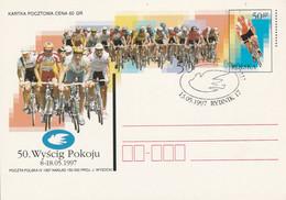 POLOGNE CYCLISME ENTIER 50 ANS COURSE DE LA PAIX 1997 - Ciclismo