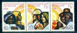 1975 Intl Women Day, Multi Ethnic Women, DDR, Mi. 2019, Strip, MNH - Fête Des Mères