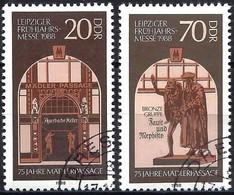 German Democratic Republic 1988 - Mi 3153/54 - YT 2765/66 ( Leipzig Spring Fair ) - Used Stamps