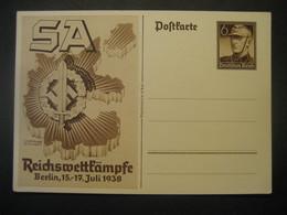 Deutsches Reich Ganzsache 1938- Postkarte Reichswettkämpfe Ungebraucht - Stamped Stationery