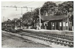 Wezep Station Electric Train Trein Spoorweg Railway Eisenbahn Chemin De Fer Gare Bahnhof 1950s - Sonstige