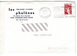 Enveloppe - LES PHALENES  Mont Blanc CHAMONIX France 1981 - Burgerlijke Brieven Zonder Portkosten