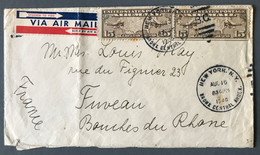 USA, Enveloppe Pour La France - TAD NEW YORK. N.Y. BRONX CENTRAL ANNEX. 15.8.1940 - (C2052) - Covers & Documents