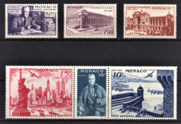 MONACO 1947 SERIE N° 22 A 27 -  NEUFS** /7 - Poste Aérienne